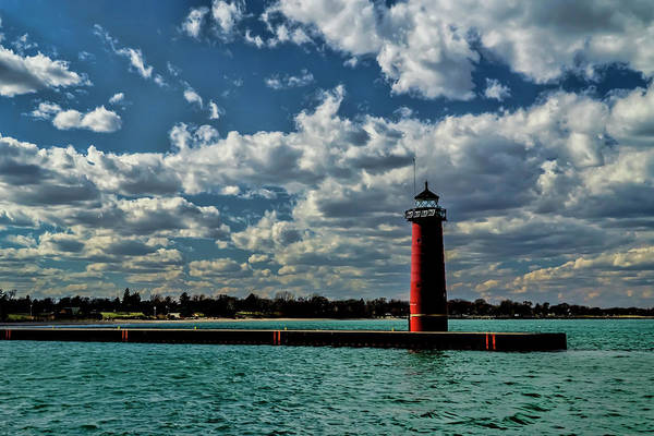 Photograph - Looking Back At The Red Lighthouse In Kenosha by Sven Brogren