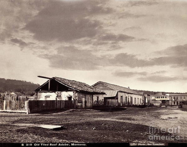 Photograph - Looking Down Munras Ave. At The Cooper Molera Adobe And The Alva by California Views Archives Mr Pat Hathaway Archives