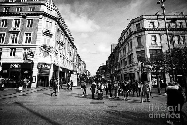 Wall Art - Photograph - Looking Down North Earl Street From Oconnell Street Dublin Republic Of Ireland Europe by Joe Fox