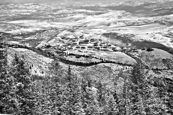 Photograph - Looking Down On Deer Valley Black And White by Adam Jewell