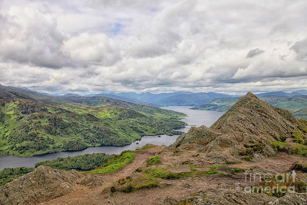 Wall Art - Photograph - Looking Down On Loch Katrine From The Summit Of Ben A'an. Scotla by Patricia Hofmeester