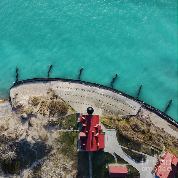 Download Photograph - Looking Down On Point Betsie by Twenty Two North Photography