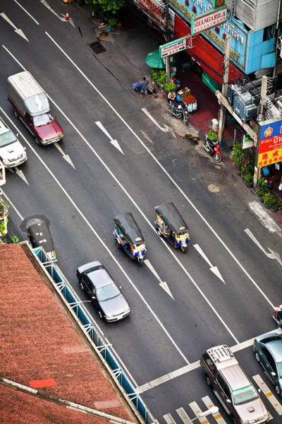 Wall Art - Photograph - Looking Down On The Busy Streets Of by Ed Norton