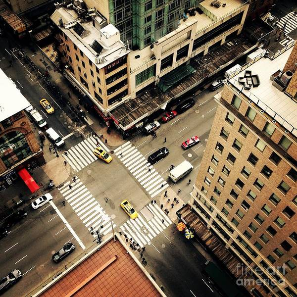 Heather Wall Art - Photograph - Looking Down On To The Streets Of New by Heather Shimmin