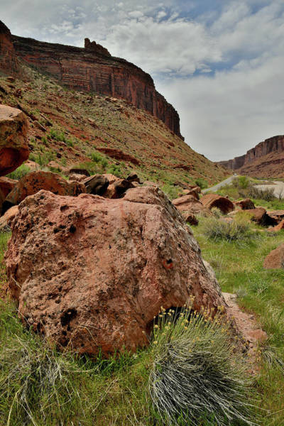 Photograph - Looking Down River In Utah Near Moab by Ray Mathis