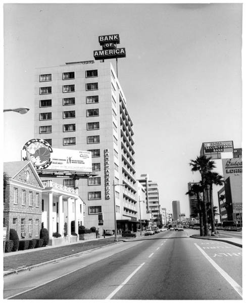Boulevard Photograph - Looking East On Wilshire Boulevard by American Stock Archive