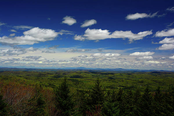 Photograph - Looking From The Lookout On The Vermont Appalachian Trail Towards Nh by Raymond Salani III