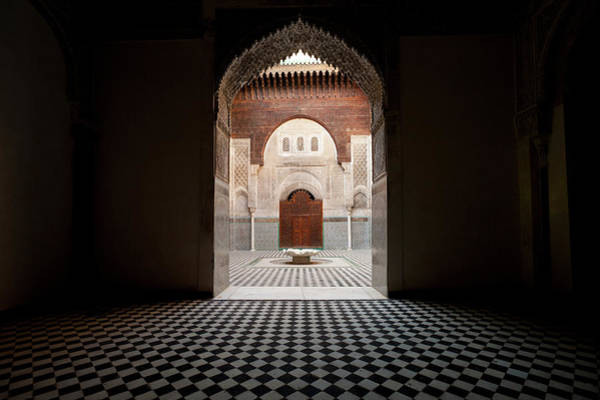 Photograph - Looking Into Courtyard Of Medersa El by Ian Cumming
