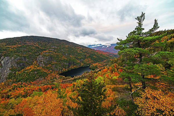 Photograph - Looking Into The Washbowl From Giant Mountain Keene Valley Ny Adirondacks Wide by Toby McGuire