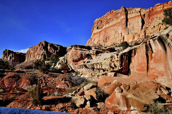 Photograph - Looking North Along Scenic Road In Capitol Reef by Ray Mathis
