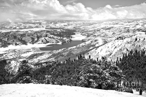 Photograph - Looking Out From Bald Mountain Black And White by Adam Jewell