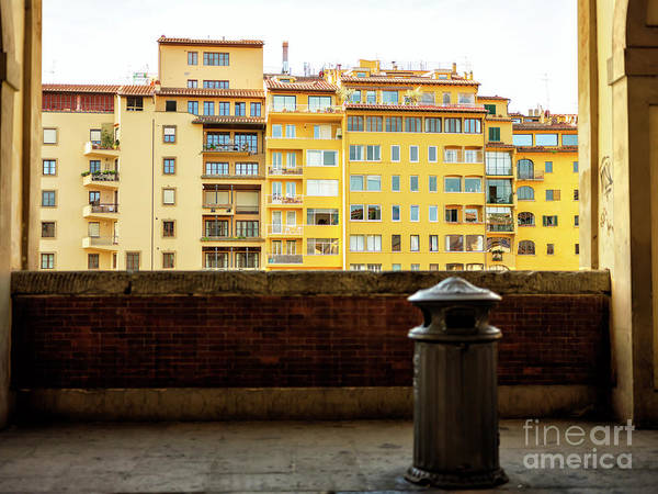 Photograph - Looking Out From The Vasari Corridor In Florence by John Rizzuto