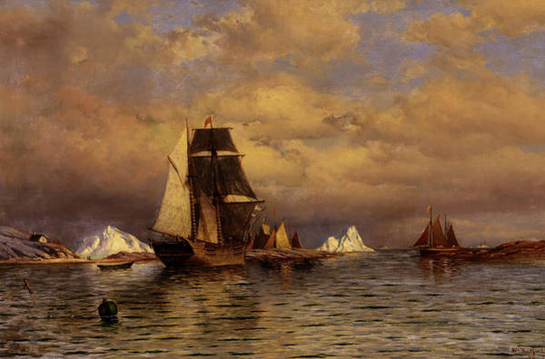 Wall Art - Painting - Looking Out Of Battle Harbor, 1877 by William Bradford