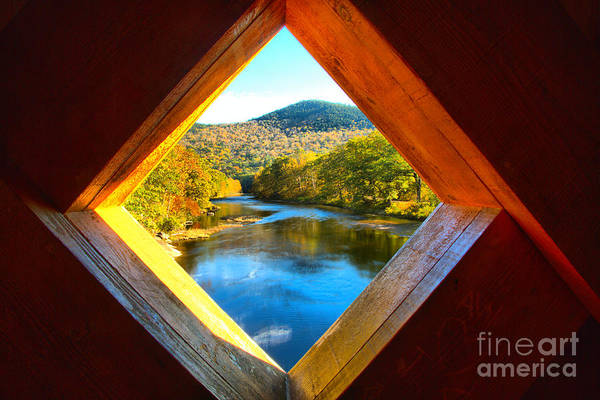 Photograph - Looking Out Of The Scott Covered Bridge by Adam Jewell
