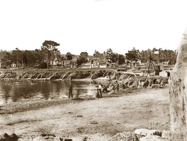 Photograph - Looking Over Lovers Point Beach Up Forest Avenue Circa 1900 by California Views Archives Mr Pat Hathaway Archives