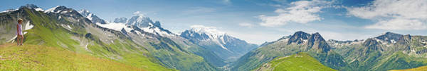 Wall Art - Photograph - Looking Over Mont Blanc Chamonix by Fotovoyager