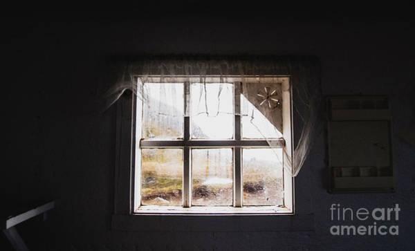 Photograph - Looking Through Broken Old Window by Joaquin Corbalan