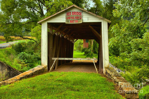 Photograph - Looking Through The Red Covered Bridge by Adam Jewell