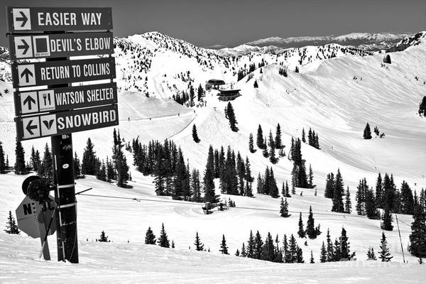 Photograph - Looking Toward The Collins Chair Black And White by Adam Jewell