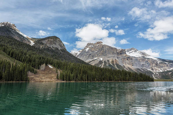 Photograph - Looking Towards An Avalanche Area At Emerald Lake by Belinda Greb