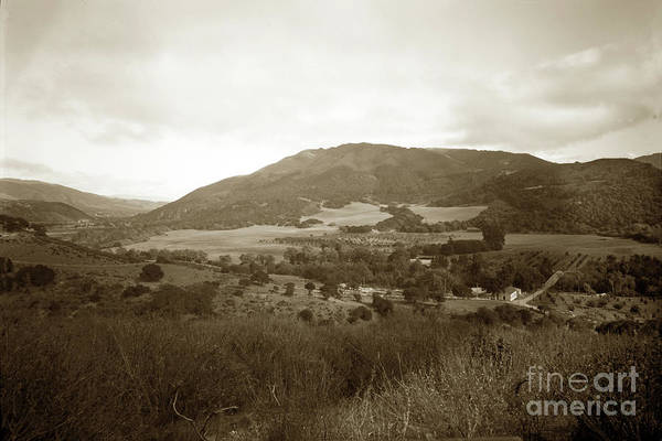 Photograph - Looking Up Carmel Valley At The Intersection Of Carmel Road And  by California Views Archives Mr Pat Hathaway Archives