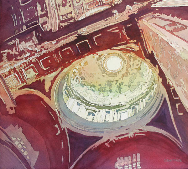 Wall Art - Painting - Looking Up Saint Peters by Jenny Armitage