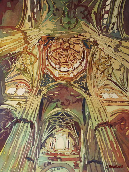 Painting - Looking Up Salamanca Cathedral by Jenny Armitage