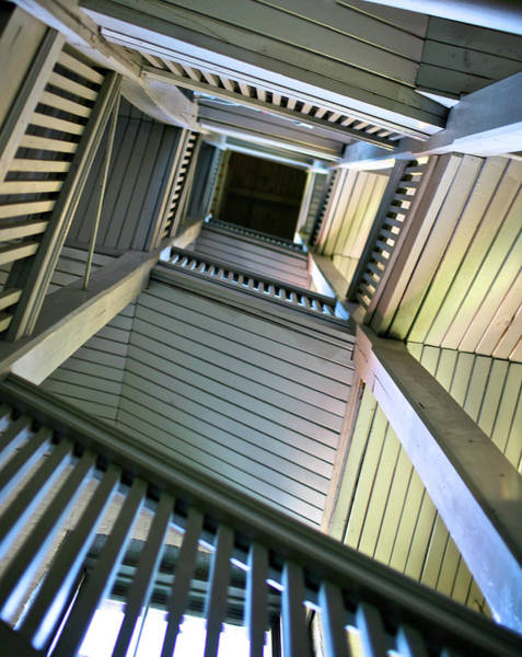 Wall Art - Photograph - Looking Up Stairwell by Photo By Iain Mcnally