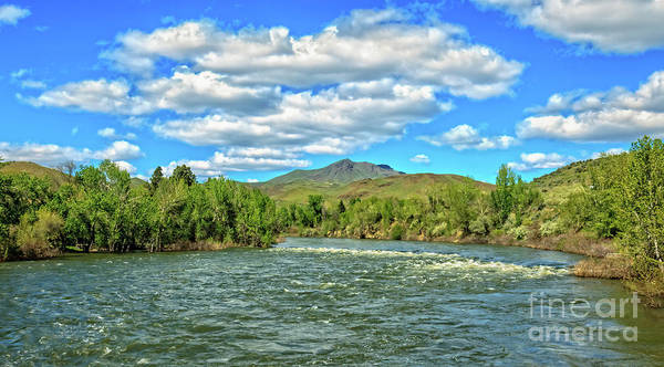 Wall Art - Photograph - Looking Up The Payette Rive At Squaw Butte by Robert Bales