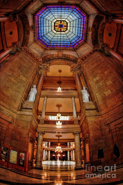 Photograph - Looking Up The State House Indianapolis Indiana by Blake Richards