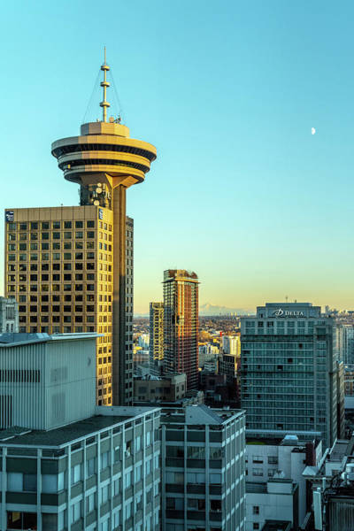 Photograph - Lookout Woodwards Mount Baker And The Moon by Ross G Strachan
