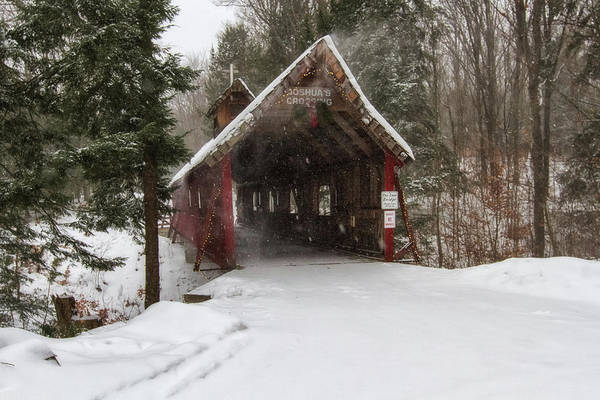 Wall Art - Photograph - Loon Song Covered Bridge 2 by Heather Kenward
