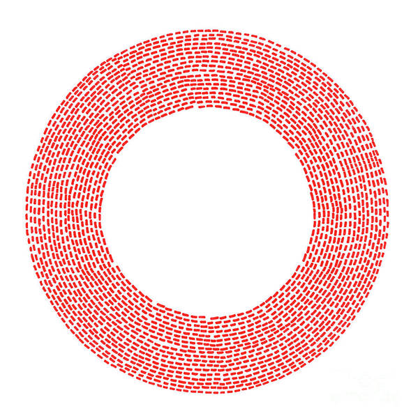 Cut-out Digital Art - Loop Red Circle Clipping Path by Petekarici
