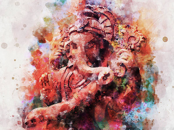 Wall Art - Painting - Lord Ganesha Dance Painting by Asp Arts