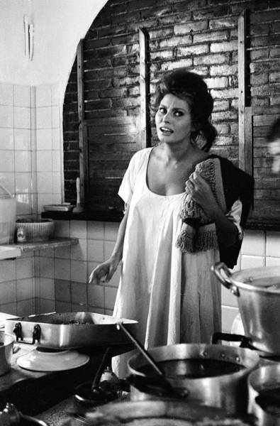 Messy Photograph - Loren Cooking by Alfred Eisenstaedt