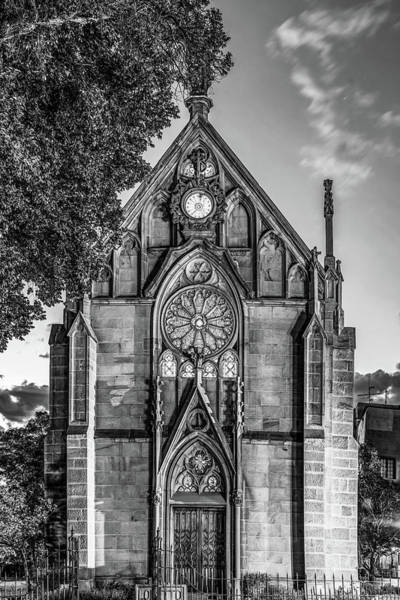 Wall Art - Photograph - Loretto Chapel Of Santa Fe New Mexico - Monochrome Edition by Gregory Ballos