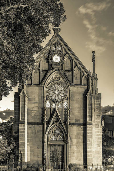 Wall Art - Photograph - Loretto Chapel Of Santa Fe New Mexico - Sepia Edition by Gregory Ballos