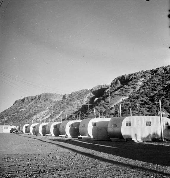 Atomic Bomb Photograph - Los Alamos Caravans by Doreen Spooner
