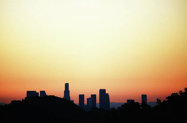 Virginia City Photograph - Los Angeles California Usa Skyline At by Virginia Star