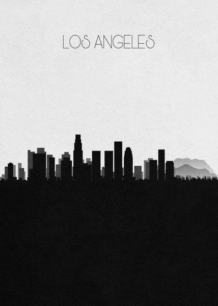 Souvenir Digital Art - Los Angeles Cityscape Art by Inspirowl Design