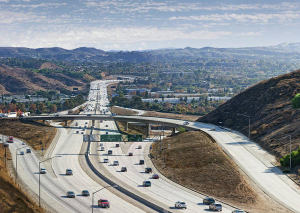 Photograph - Los Angeles Freeway by Ed Freeman