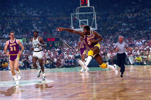 1980 1989 Photograph - Los Angeles Lakers V Boston Celtics by Dick Raphael