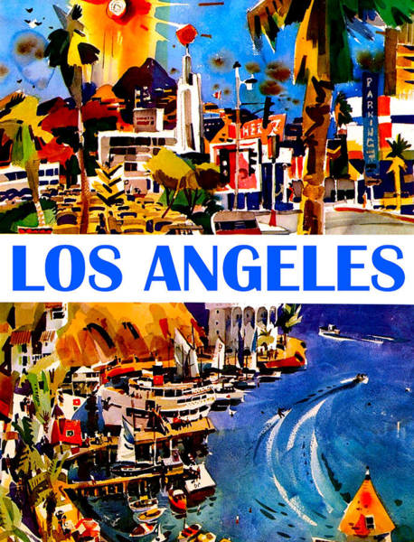 Wall Art - Painting - Los Angeles by Long Shot