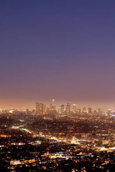 Wall Art - Photograph - Los Angeles Skyline At Twilight by Uschools