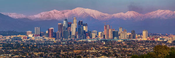 Photograph - Los Angeles Skyline Panoramic by Kelley King