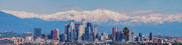 Photograph - Los Angeles Snow Panorama by Lynn Bauer