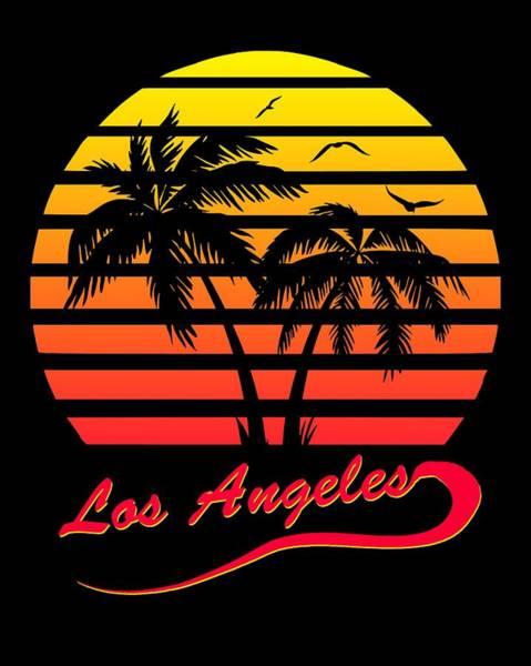 Wall Art - Digital Art - Los Angeles Sunset by Filip Hellman
