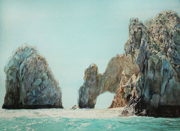 Cabo San Lucas Arch Wall Art - Painting - Los Arcos, Cabo by Emily Olson