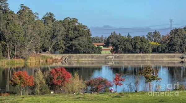 Wall Art - Photograph - Los Gatos Reservoir Fall Colors  by Chuck Kuhn