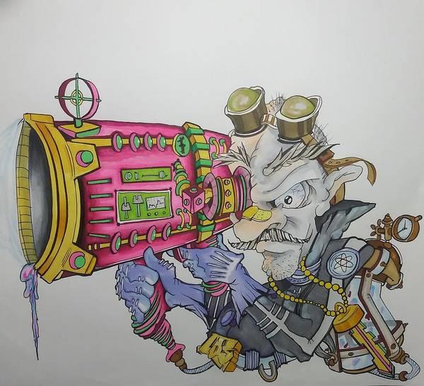 Wall Art - Drawing - Losskillz by Carlos Arenazas